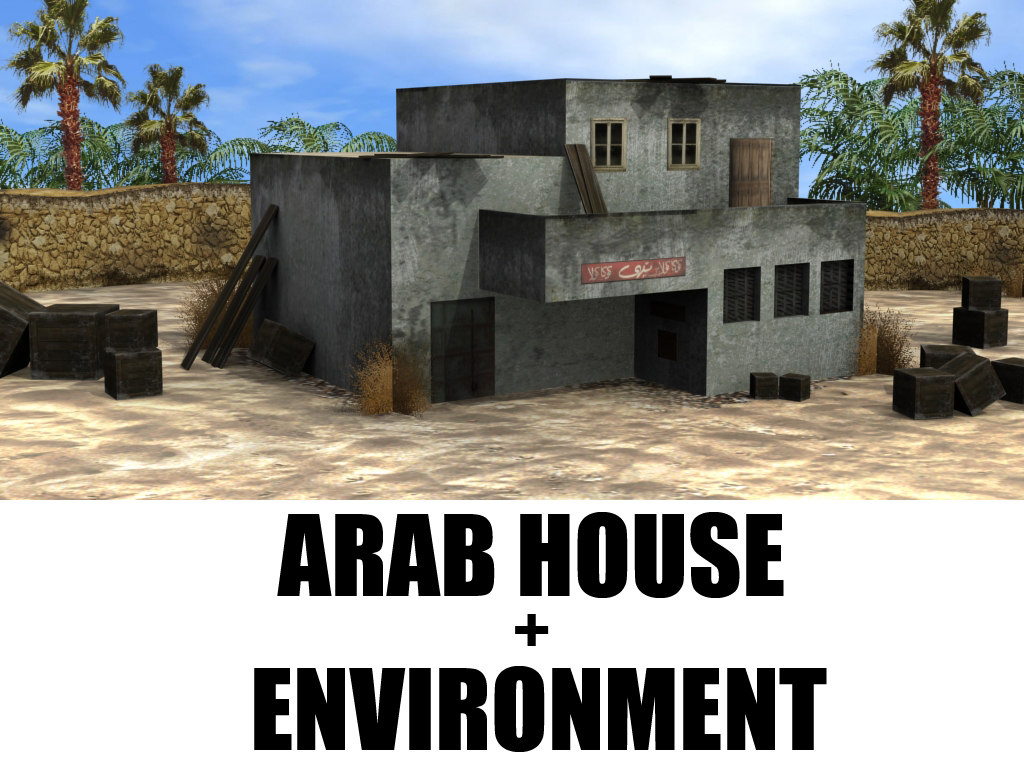 scene arab house environment max