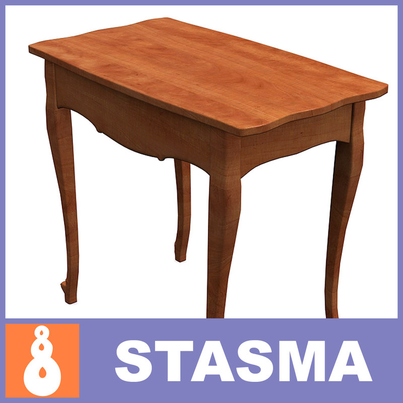 3d small table wood