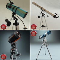 maya telescopes set modelled
