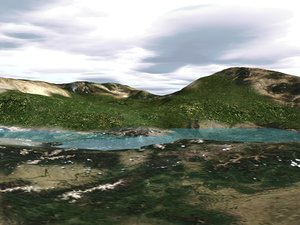terrain landscape 3d c4d