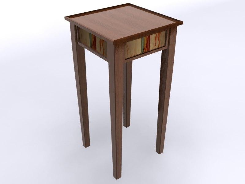 3d pedestal table furniture