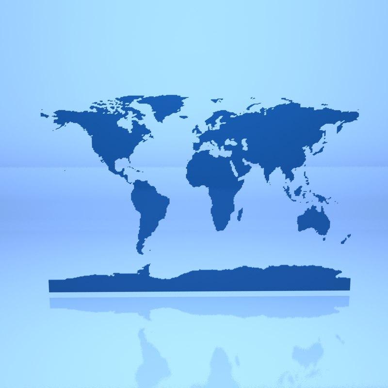 World Maps 3d Max