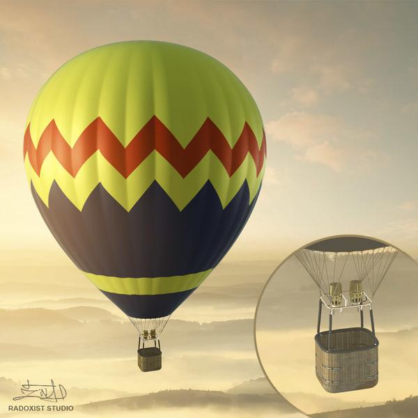 air balloon resolution - 3d max