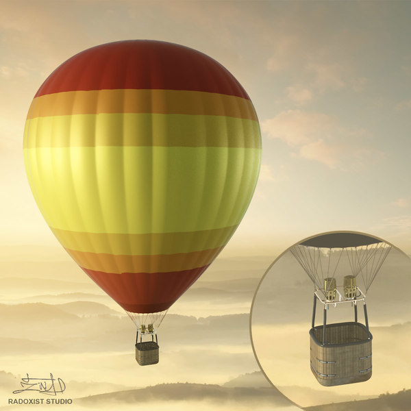 3d air balloon basket resolution