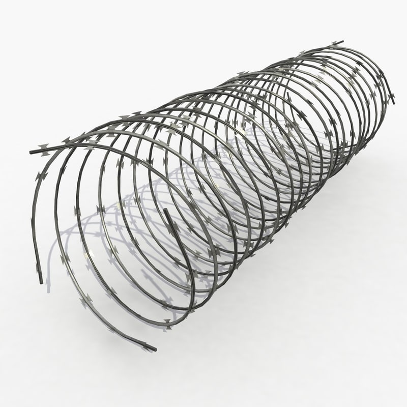 barbwire barb wire 3d max