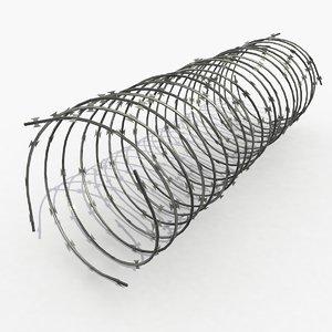 barbwire barb wire 3d max