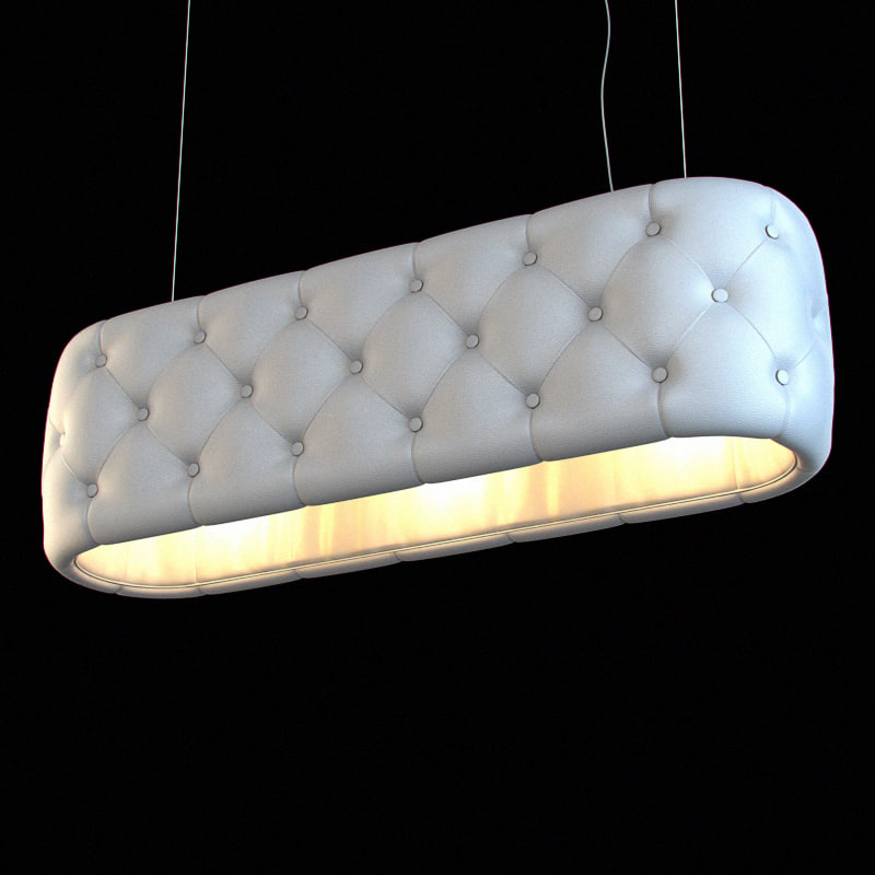 leather lampshade 18 3d model