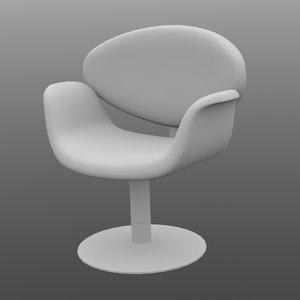 3d little tulip chair model