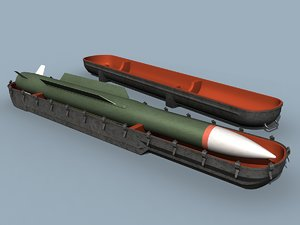 3d model missile container