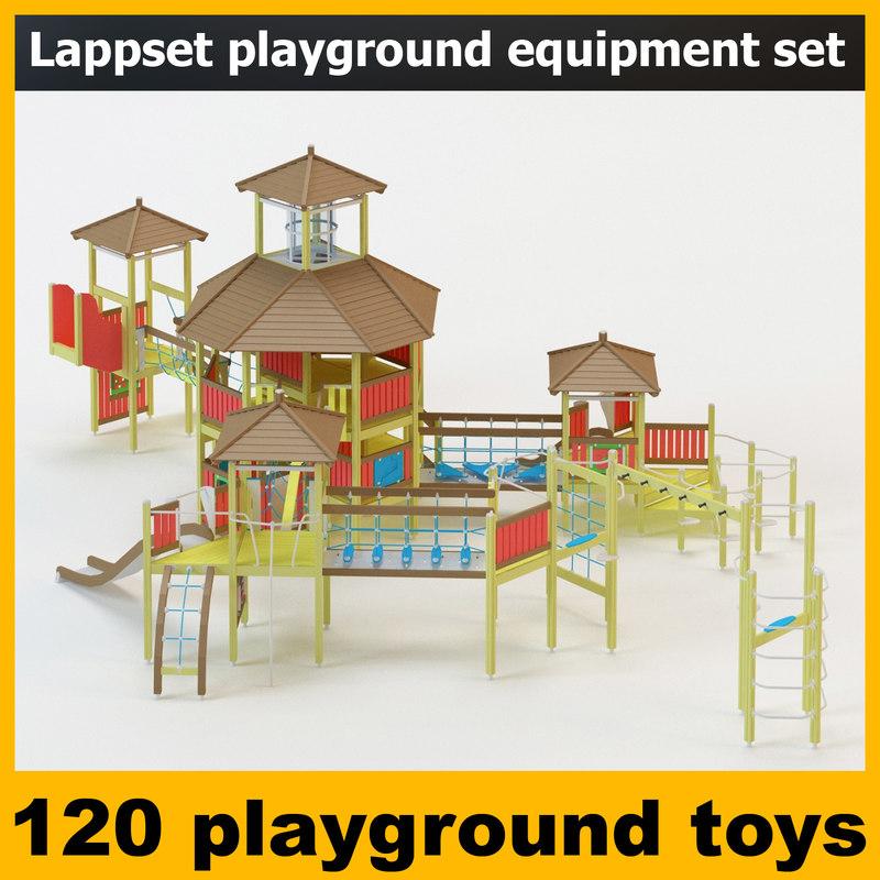 3d model lappset playground equipment park