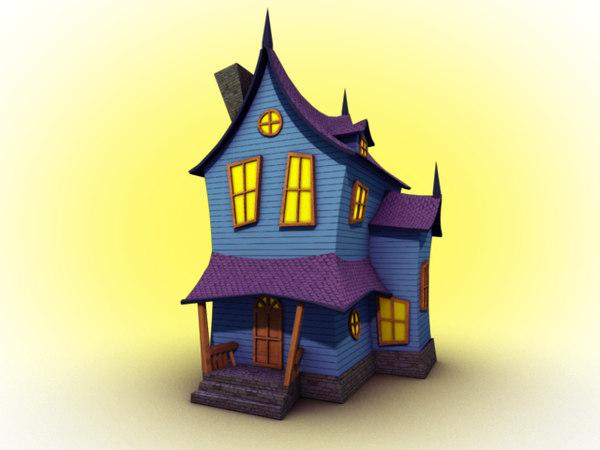 3d house spooky model
