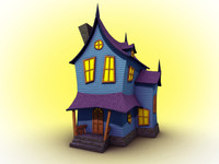 3d house spooky model