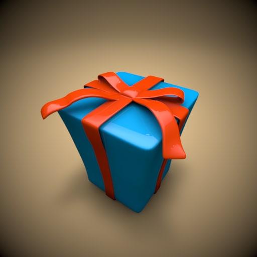 c4d toon gift box