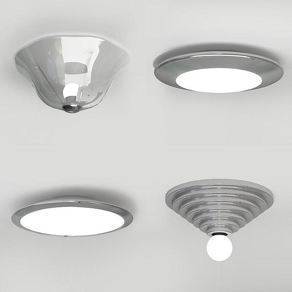 3d lamp ceiling model