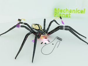 mechanical spider 3ds