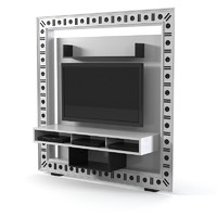 VISMARA PIRAMID the frame home cinema  tv glass eyes entertainment center storage classic art deco contemporary