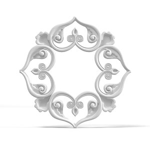 petergof rose plaster 3d model