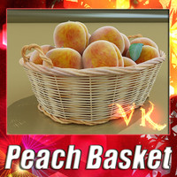 3d model wicker basket peach resolution