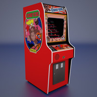 Donkey Kong Arcade Low Poly