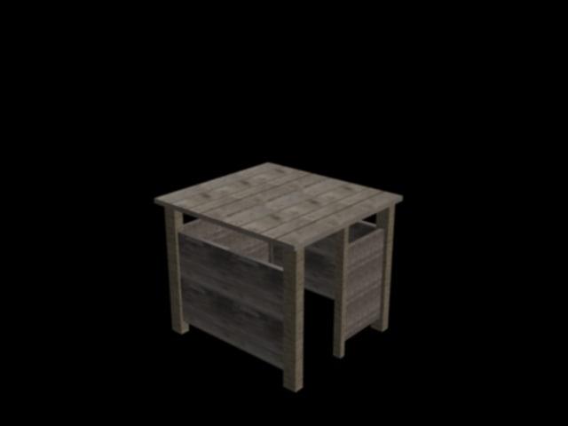 free wooden hanging 3d model