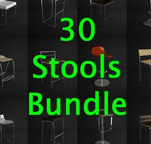 stools chairs 30 3d model