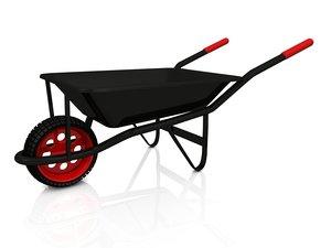 wheel barrow wheelbarrow 3d c4d