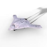 3d x47b x47 ucav model