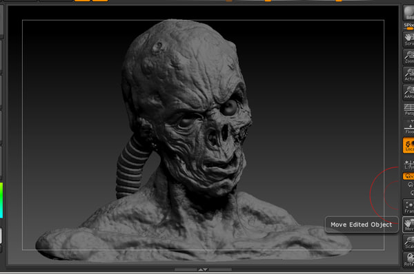 3d zbrush zombie