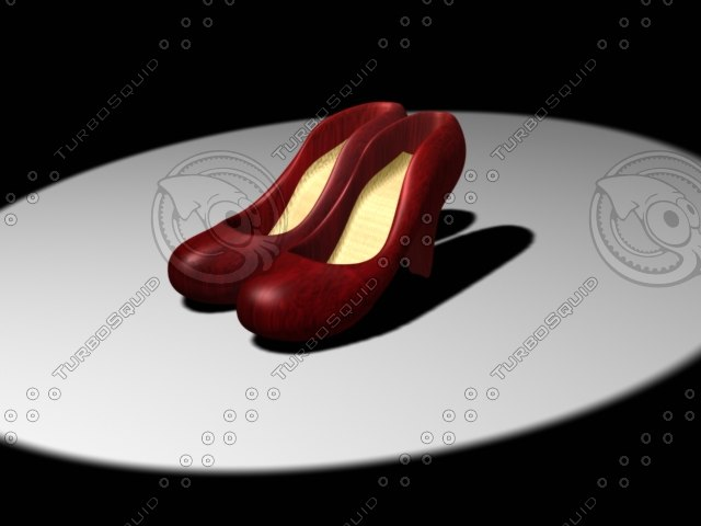 woman shoes 3d max