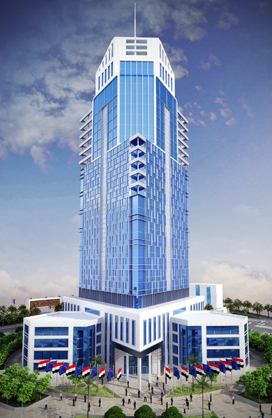 skyscraper building 3d model