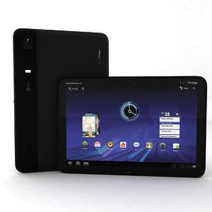 motorola xoom tablet 3d 3ds