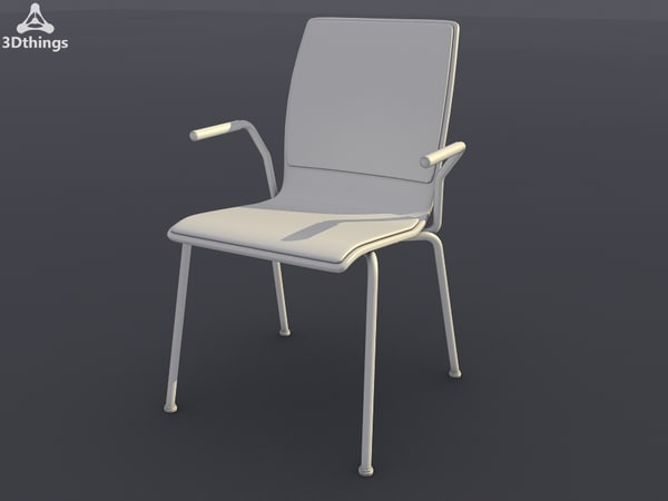 3d model conference chair stage 4-leg