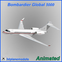 bombardier global 5000 3d model