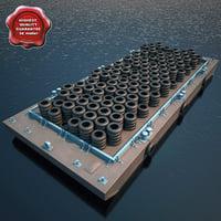3d model barge v3