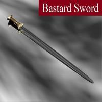 3d model bastard sword