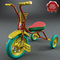 children tricycle v2 3d max