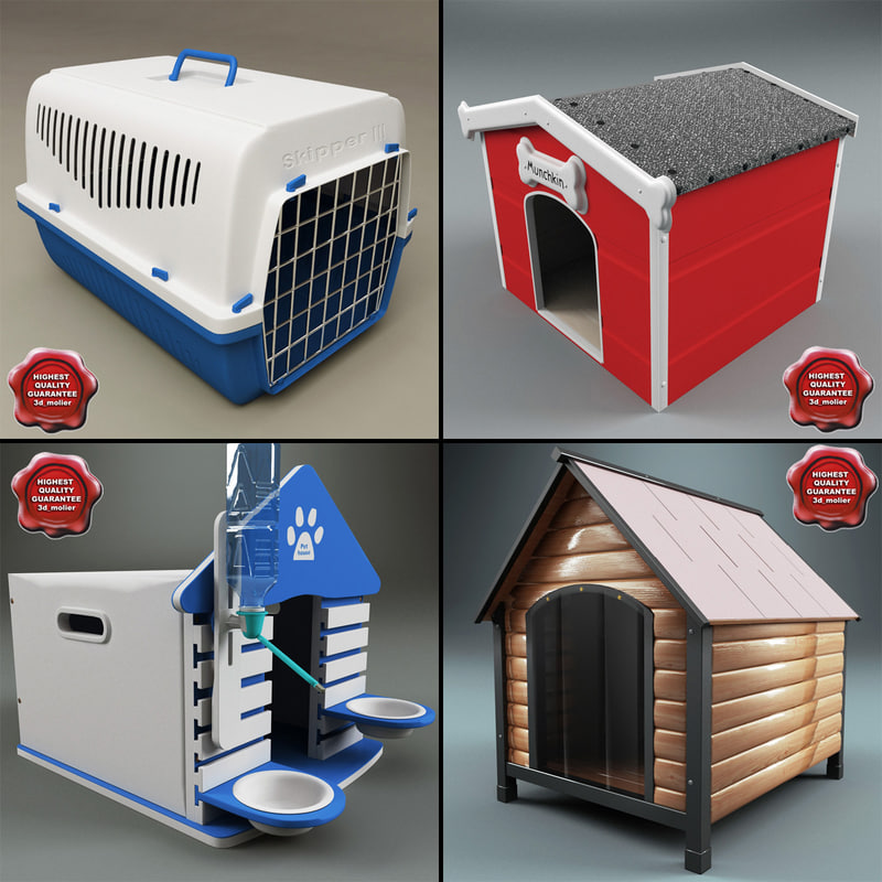 3d model of dog kennels