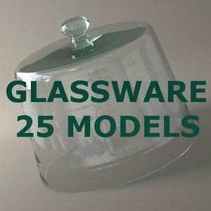 glassware glass 25 modelled lwo