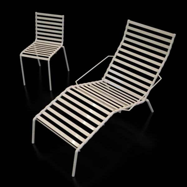 bouroullec outdoor chair magis 3d model
