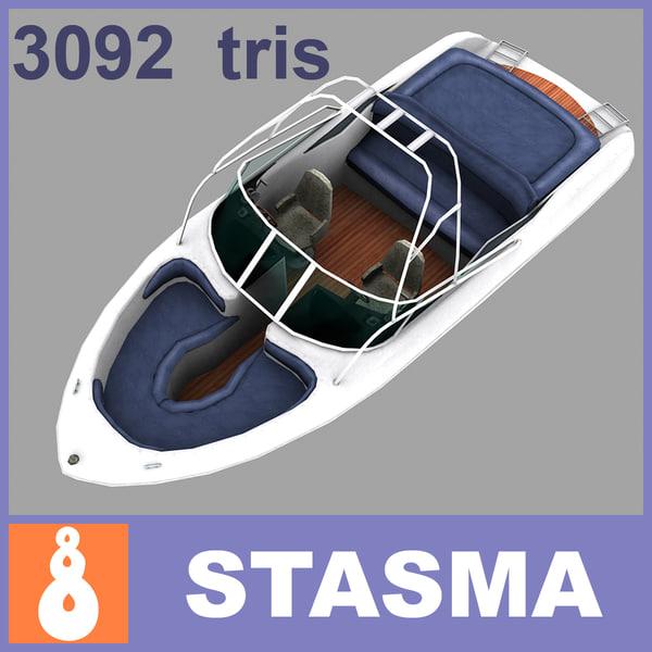 3d model motor boat