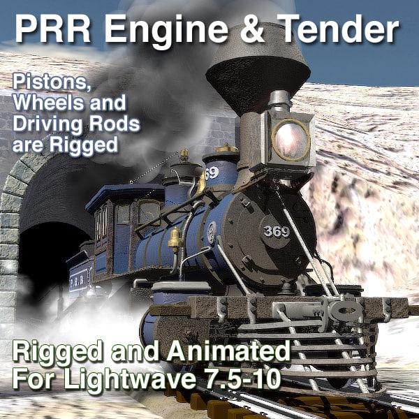 prr engine tender rigged lightwave lwo