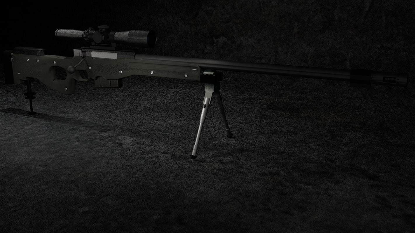 sniper rifle 3d obj