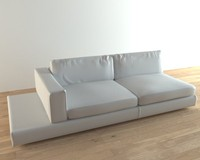 photorealistic sofa 3d obj
