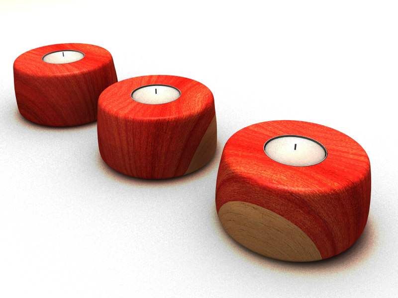 tambootie t-light holder wood 3ds