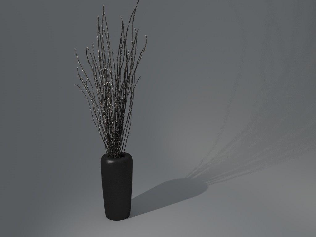 vase branches 3d model