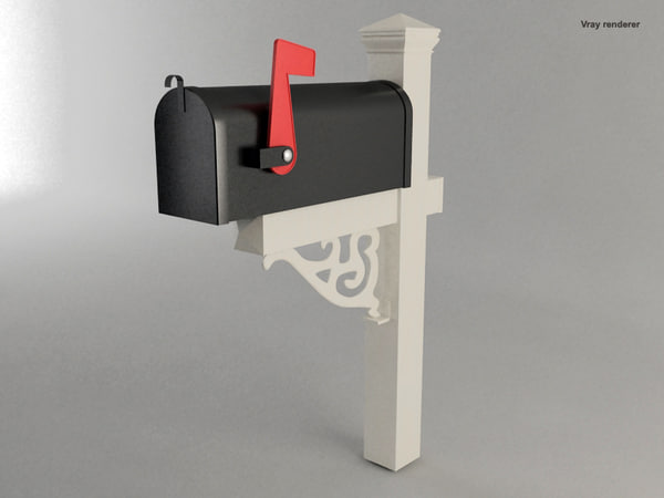 mailbox exterior architecture 3d model