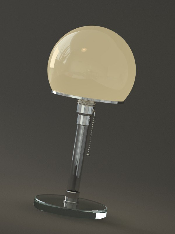 wagenfeld table lamp obj
