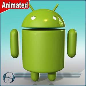 3d model android character cartoon