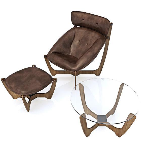 3d model armchair chair group