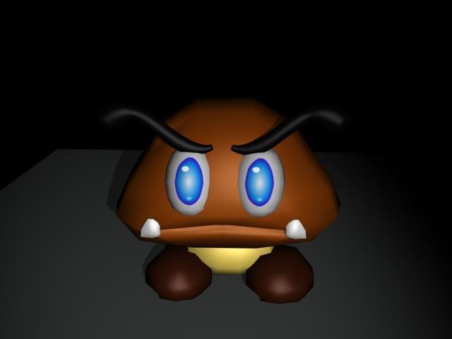 free goomba 3d model